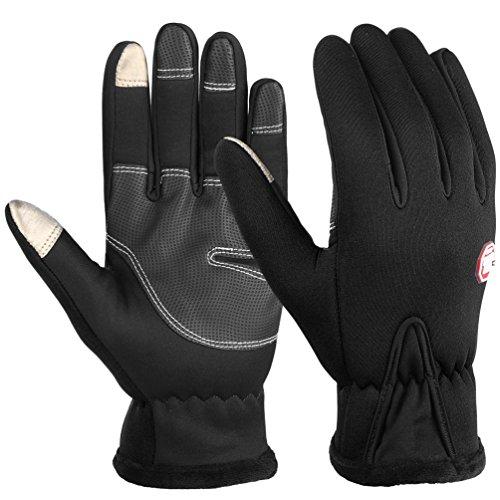 Vbiger Touchscreen Handschuhe Trainingshandschuhe Sport Handschuhe Rutschfest Handschuhe,Schwarz-2,M