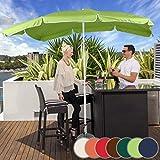 Sonnenschirm 200 x 155 cm I Rechteckig, höhenverstellbar, knickbar, Farbwahl, Quadratisch, UV-Schutz I Gartenschirm, Marktschirm, Balkonschirm, Terassenschirm (Lemon)
