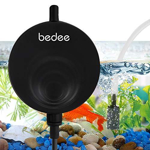 Aquarium Luftpumpe Pumpe Mini Sauerstoffpumpe Mini Oxygen Luftpumpe Sauerstoff für Aquarium Super Leise Luftpumpen Aquarienluftpumpen Schwarz Luftpumpenzubehör mit Rückschlagventil Geräusch niedriger