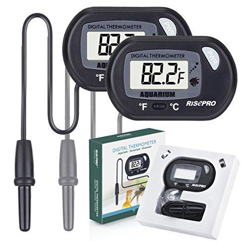 Aquarium Thermometer, RISEPRO Digital Wasser Thermometer für Aquarium Aquarium Marine Temperatur