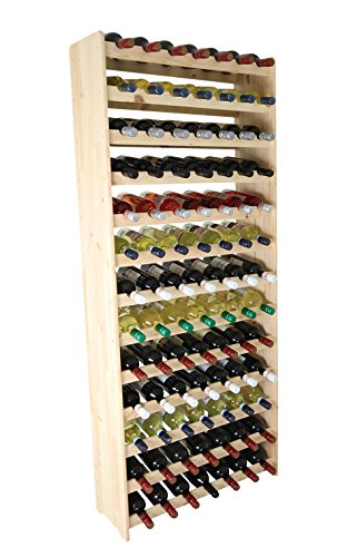 Len-Mar Weinregal Weinregal Holz Flaschenregal für 91 Flaschen Massiv-91