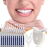 Teeth Whitening Kit JIEER Zahnaufhellung Set für Weisse Zähne - Professionelle Zahn Whitening Kit Bleaching Zähne 12x3ml Teeth Whitening Gel 2xDental Trays Gel Kit 1xLaserlicht