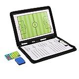 AGPtek Taktikmappe mit Reißverschluss für Fußballtrainer mit Magnete, Stifte und Gummi