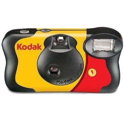 Kodak Fun Saver 27+12 3920949 Einwegkamera (3m Blitzbereich, 135 Film-Format, 800  Film sensitivity (ISO), 39 Anzahl Bilder) gelb/grau/rot