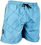 GUGGEN Mountain Herren Badeshorts Beachshorts Boardshorts Badehose Schwimmhose Männer mit blaues Muster Print*