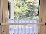 ERABOS - Einbruchschutz | Sicherungsstange für Fenster/Türen | MIT KIPPSTELLUNGS-SCHUTZ | 101-188cm | MASSIVER STAHL | weiß | auch in BRAUN erhältlich