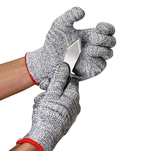 Caloics Austernöffner-Set : Austernmesser und Schnittschutzhandschuhe (Größe M)