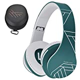 PowerLocus Bluetooth Over-Ear Kopfhörer, Kabellos Stereo Faltbare Kopfhörer Kabellose und Kabel-Kopfhörer mit Integriertem Mikrofon, Micro SD/TF, FM für Handys/iPad/Laptops & PC (Blau)