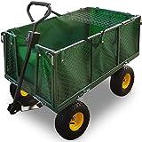 Bollerwagen  herausnehmbare Plane  bis 544kg belastbar - Handwagen Transportkarre Gartenkarre Gartenwagen Transportwagen