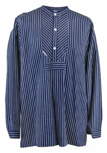 Fischerhemd Original breit gestreift, Damen 50 = Herren 56