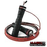 Master of Muscle Profi-Springseil - Speed Jump Rope für Erwachsene - für Boxen, Fitness - mit Rutschfesten Griffen, Kugellager, 2 Stahlseilen Zum Seilspringen - Trainingsguide Gratis …