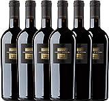 6er Weinpaket Italien - Sessantanni Primitivo di Manduria 2015 - Cantine San Marzano mit VINELLO.weinausgießer   halbtrockener Rotwein   italienischer Rotwein aus Apulien   6 x 0,75 Liter