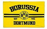 BVB 17130500 Hissfahne 150x100cm mit Logo/Schriftzug, Schwarz/Gelb, 150 x 100 x 1 cm
