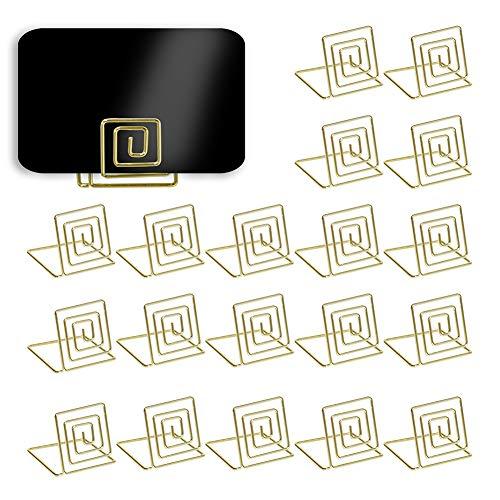 20 Stück Platzkartenhalter Memohalter Clip Foto Halter Tischnummernhalter gold