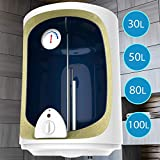 Elektro Warmwasserspeicher mit 30,50,80,100 Liter Speicher, 1500W Heizleistung und Thermometer I Boiler I Wasserboiler I Warmwasserboiler (30L)