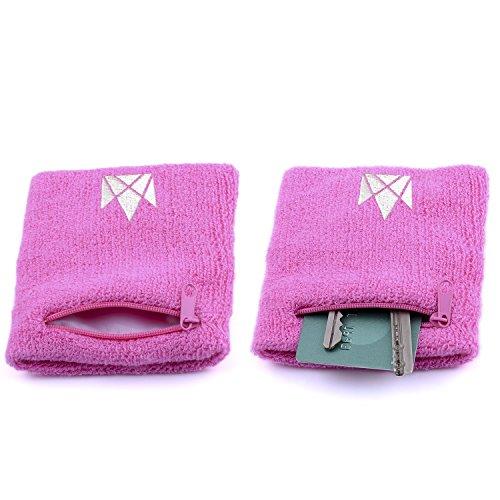The Friendly Swede 2er-Set Schweißarmband mit praktischer Reißverschlusstasche