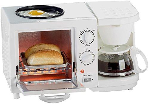 Rosenstein & Söhne Backofen: Kompakter 3in1-Frühstücksofen, 1.150 Watt (Miniküche)