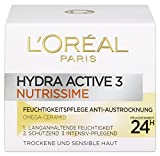 L'Oreal Paris Tagespflege Hydra Active 3 Nutrissime Feuchtigkeitspflege Gesichtscreme 50ml
