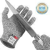 Lacari  Schnittschutz-Handschuhe (1 Paar) – Extra Starker Level 5 Schutz, EN-388 Zertifiziert – Hochwertiger & Leichter Kettenhandschuh