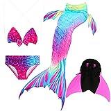 Das beste Mädchen Bikini Badeanzüge Schönere Meerjungfrauenschwanz Zum Schwimmen mit Meerjungfrau Flosse Schwimmen Kostüm Schwanzflosse - Ein Mädchentraum- Gr. 120, Farbe: A02(2)