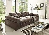 Reboz Big Sofa Vintage in verschiedenen Farben schwarz Hellbraun Dunkelbraun Megasofa (Vintage Dunkelbraun)