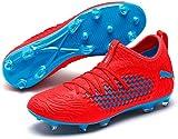 PUMA Herren Future 19.3 Netfit FG/AG Fußballschuhe, Rot (Red Blast-Bleu Azur), 44 EU