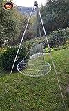Dreibein Schwenkgrill inkl. 70 cm Edelstahl-Rost aus deutscher Produktion
