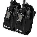 KEESIN Multifunktions-Tasche Fall Halter für GPS Handy Motorola Kenwood Midland ICOM Yaesu Baofeng Two Way Radio Walkie Talkie Holster(2 Stücke )