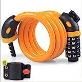 Fahrradschloss Diebstahlsicherung Passwortschloss Mountainbike Strip Wire Lock Elektro-Motorrad Fahrrad Ringschloss Orange