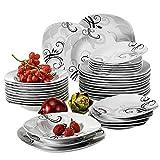 VEWEET Tafelservice 'Zoey' aus Porzellan 36 teilig | Tellerset für 12 Personen | Mit je 12 Dessertteller, Tiefteller und Flachteller ...