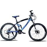 SIER Mountainbike Student 26 Zoll Downhill-Offroad-Doppelscheibenbremse 27-Gang-Mountainbike Erwachsenenfahrrad Fahrrad,Blue