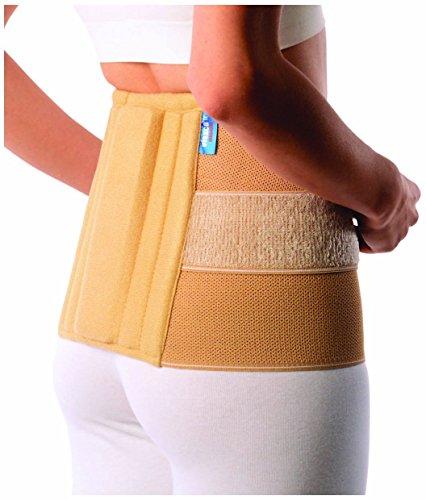 Rückenbandage   Rückenschmerzentlastung   Orthese medizinischer Qualität für chronische Schmerzen, Schmerzen im Lendenwirbelbereich und Kreuzschmerzen, am besten für die Prävention von Verletzungen, Rückenstütze und Lordosenstütze, effizient für Schmerzen, mit ultra dünnen Design, Erleichterung der Rückenschmerzen für Damen und Herren mit Doppelzug. UNISEX