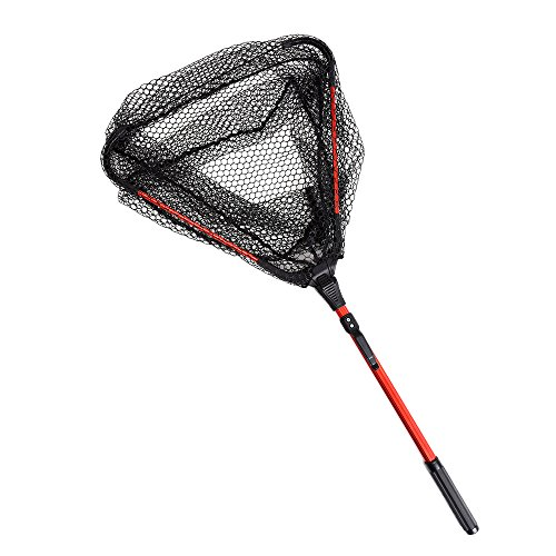 Lixada Fliegen-Fischen-Dreieck Brail Kescher Bewegliche Faltbare Leichte Net Nylon Fischernetz Aluminium Rahmen