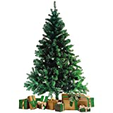 Wohaga Künstlicher Weihnachtsbaum Tannenbaum inklusive Christbaumständer 180cm / 600 Spitzen Weihnachtsdekoration künstliche Tanne