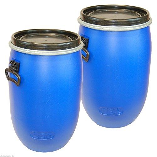 SET: 2 x 60 Liter Weithalsfass Weithalstonne Gepäcktonne Fass