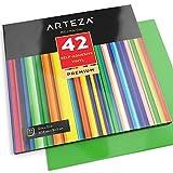 Arteza Selbstklebende Vinyl-Folie — Klebefolie in 42 Verschiedenen Farben— Vinyl-Blätter zum Aufkleben auf Glatten Oberflächen— 12 x 12 Zoll (30.4 cm x 30.4cm )