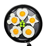 Lanker Spiegelei-Form, 5er-Set Antihaft für Bratpfanne, Eierformer-Pfannkuchenmacher mit Griff-Ei-Form zum Braten kochen KT31