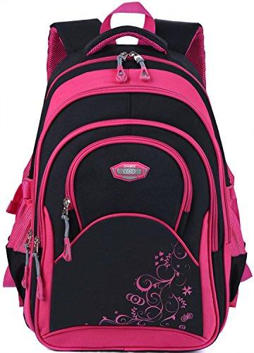 Kinderrucksäcke,Coofit Mädchen Schulrucksack Rucksäcke Schulranzen Schultasche Tasche Travel Sport Outdoor Rucksack für Schüler (Coofit Design Rose)