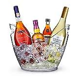 yobansa 8L klare Acryl Wein und Champagner Eis Eimer Bar Werkzeuge große Eiskübel