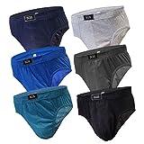 6-12 Slips Herren Unterhosen Männer Slip Unterwäsche Unterhosenslip Unterhose aus Baumwoll (L, 6.Stück 580)