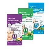 aspUraclip Mini-Inhalator mix (3er Pack) | Erster Mini-Inhalator für die Nase | 100% Bio-Öle können für Linderung, Entspannung und Frische sorgen | Im Set enthalten sind 1x med, 1x fresh & 1x relax
