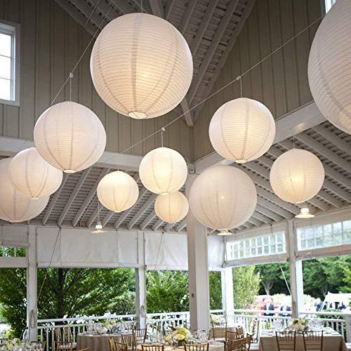 10 Stücke Papierlaterne Laterne Deko Feier Lampions Papierlampen mit 10er Mini LED Lichter
