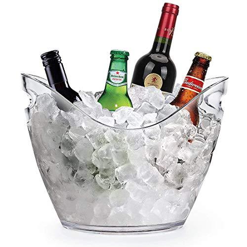 YOBANSA Eiskübel für Wein- oder Champagnerflaschen aus Acryl, Barwerkzeuge, Weinzubehör Clear Ice Bucket