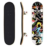 WeSkate Skateboard Komplett Board 79x20cm Holzboard ABEC-7 Kugellager 31 Zoll 7-lagigem Ahornholz, 85A Rollen für Anfänger Kinder Jugendliche und Erwachsene (Farbe 4)