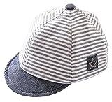 Cloud Kids Baby Kinder Mütze Junge Baseball Cap Hut Streifen Schirmmütze Sonnenhut Grau Größe 42