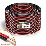MANAX Lautsprecherkabel 2 x 1,5mm² rot/schwarz 50,0 m Ring