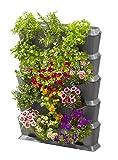 GARDENA NatureUp! Basis Set vertikal mit Bewässerung: Pflanzenwand zur Begrünung von Balkon/Terrassen/Innenhöfen, Set für 15 Pflanzen, unsichtbare Wasserversorgung, einfaches Stecksystem (13151-20)