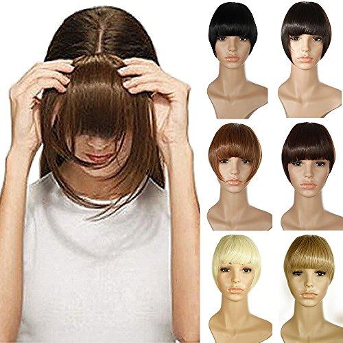 Clip in Extensions Pony-Haarteil natürliche Haarverlängerung glatt Kunsthaar 2 Clips #24/613 Mittelblond/Hell-Lichtblond