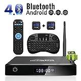 ABOX Android 7.1 TV Box XB-3, [2+16GB] 2018 Wifi Antenne Intelligenter Fernsehkasten mit Mini Tastatur, XB-III Bluetooth Viererkabel-Kern Amlogic S905 Unterstützt 1080p/4K