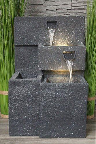 Springbrunnen 'Grada' Bepflanzbar mit LED Beleuchtung, Wasserfall Gartenbrunnen Kaskade Terrassenbrunnen